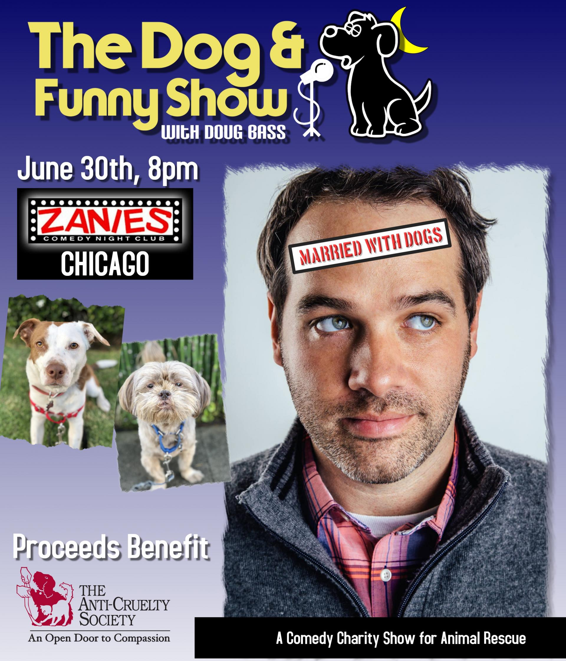 Dog and Funny Show Poster